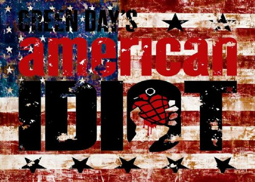 GREEN DAY - AMERICAN IDIOT USA 1 / canvas print - self adhesive poster - photo print